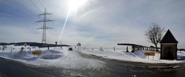 Schneeverwehungen bei Meinkenbracht